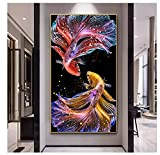 Pintura de lienzo de animales modernos con diseño abstracto de...