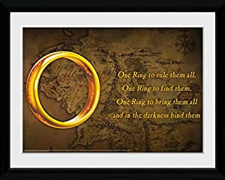 The Lord of The Rings Framed Collector Poster - One Ring to Rule Them All (16 x 12 inches)