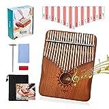 Kalimba - Piano de pulgar con 21 teclas con instrucciones de estudio y martillo de...