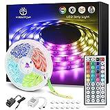WenTop Tiras LED 10M, Luces LED Habitación 10 Metros, Tira LED RGB Color con Control Remoto, Para Decoración de TV, Techo, Dormitorio, Bares
