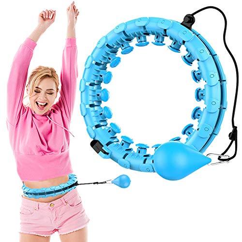 LncBoc Cerchio Fitness per Adulti, Smart Cerchio Fitness Pneumatici Larghi Regolabili, con Gommini Massaggianti e 24 Parti Rimovibili, per Principianti, Bambini, Adulti
