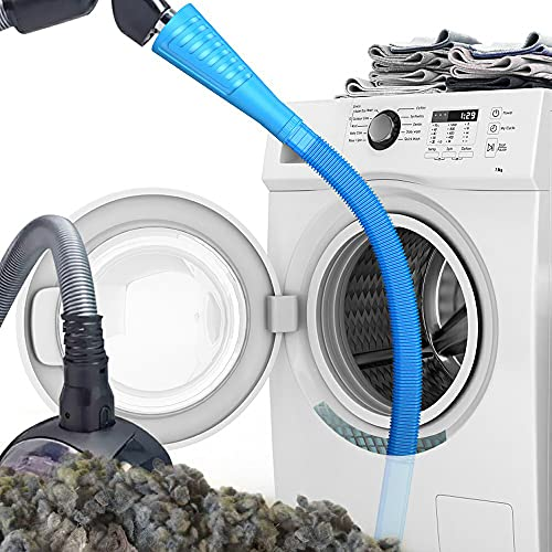 Dryer Vent Cleaner Kit Vacuum Hose Attachment Brush Lint Remover Power Washer and Dryer Vent Vacuum Hose (V1-Blue)