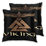 WINCAN Juego de 2 Decorativo Funda de Cojín,Viking Warrior...