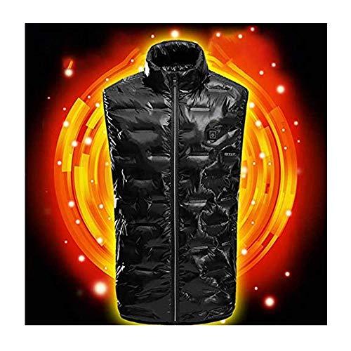 Dasongff Vest voor heren en dames, skiën, USB-oplader, warmer, 3-traps temperatuurinstelling, heren, koud, skipak, verwarmd outdoor, paardrijden, wasbaar, USB-jas, donsjack, smart hevest