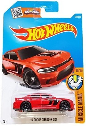 Hot Wheels, 2016 Muscle Mania, '15 Dodge Charger SRT Hellcat [Red] 130/250