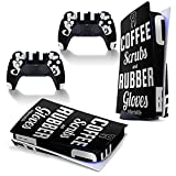 PS5 console controller skin sticker Dental Hygienist, Coffee Scrubs And Rubber Gloves Dental Life PlayStation 5 full body vinyl skin sticker protection decal(Disk version)