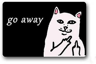 Custom Go Away Cat Doormat Door Welcome Mat Rug Cover Sign Outdoor Indoor Floor Mats Non-Slip Machin