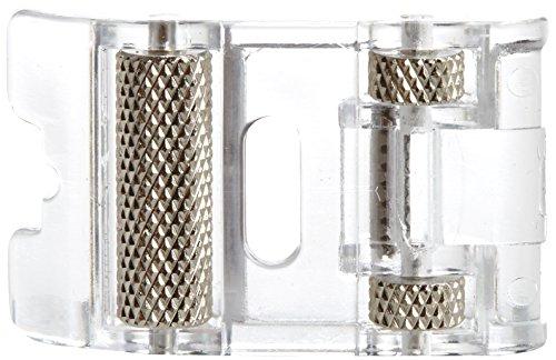 Alfa Prensatelas con rodillos para materiales elásticos y gruesos, accesorio para máquina de coser, acero inoxidable y plástico