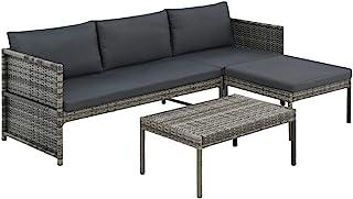 vidaXL sofa ogrodowa 9-częściowa z polirattanu meble ogrodowe zestaw mebli do siedzenia