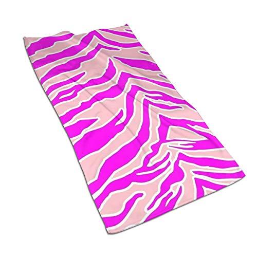 Genertic 27.5 * 15.7in Handdoek Tiger Roze En Roze Luipaard Print Zachte Super Absorbent Fluffy Handdoek Katoen Gepersonaliseerd Vierkant Gezicht Zacht Hotel Bad