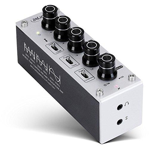 InLine 99204I AmpEQ mobile, Hi-Res AUDIO Kopfhörer-Verstärker und Equalizer, 3,5mm Klinke, mit Akku