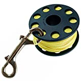Trident Finger Reel with Brass Clip Wreck Scuba Diving Tech Spool 3 Sizes, Large 160 FT