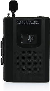 STAYER 外付けマイク付AM/FMラジオ カセットレコーダー(録音・再生) ブラック AD-PTCPABK