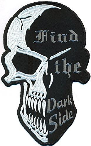 XXL, FIND THE DARK SIDE 2 Face Skull Head Totenkopf Reaper BACKPATCH Aufnäher Patch