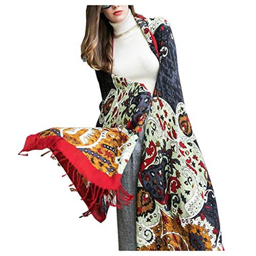 Winter Women's Nationale Wind Sjaal Oversized Lange Mantel Nepal Sjaal Lente En Herfst Dual-use Wollen Sjaal Vrouw