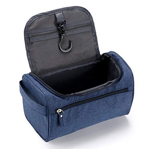 RIFIANS – Bolsa De Aseo Espacioso para Hombre – Premium Calidad con Gancho Colgante + Compartimentos - Neceser de Viaje Hombre y Mujer - Funcional, Sólido, Simple y Eficiente