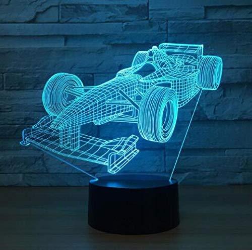 JJIEZZ Lámpara del Interruptor del Tacto del USB de la Forma del Tractor del Coche del Motor de la luz de la decoración 3D 7 Luz Colorida de la noche-Coche11_Cambio de 7 Colores