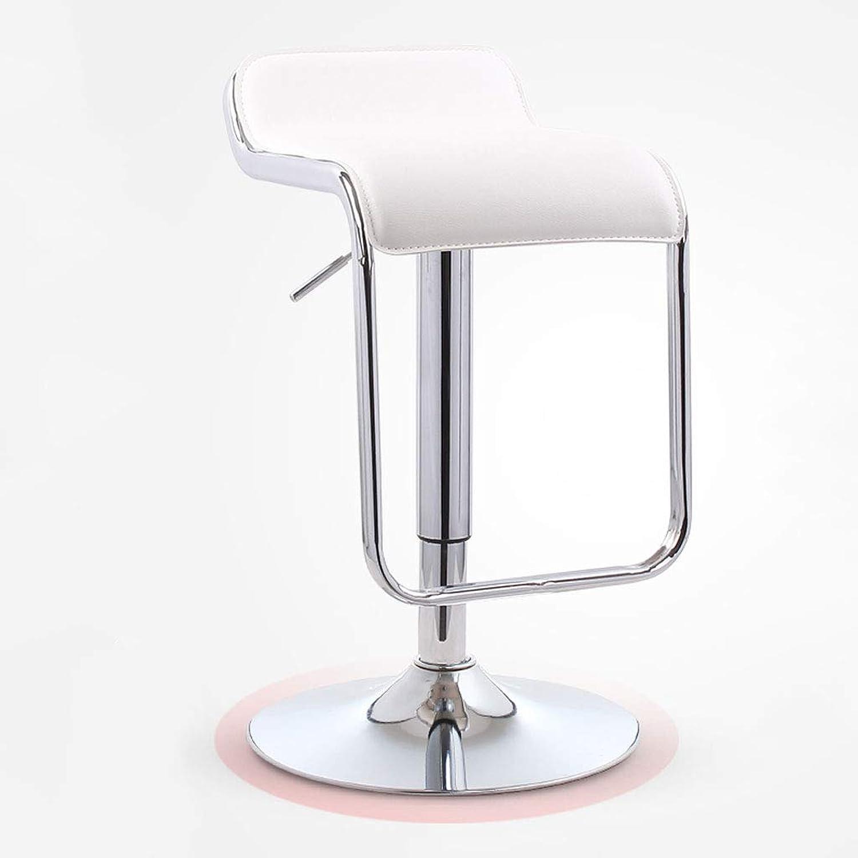 WXL Bar Chair Lift Home Bar Stool High Stool Bar Chair redating High Stool Modern Minimalist Bar Chair F (color   White)