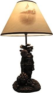 Golf Lovers Tee Light Golf Bag Table Lamp w/Decorative Shade