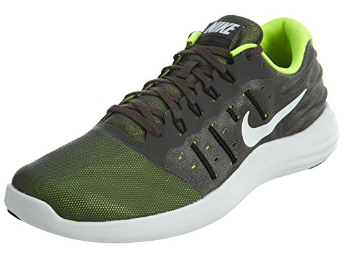 Nike Mens LunarStelos Midnight Fog/Black/Volt/White Nylon Running Shoes 9 M US