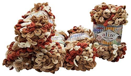 Alize Puffy fine 5 ovillos de lana de 100 g, 500 g,...
