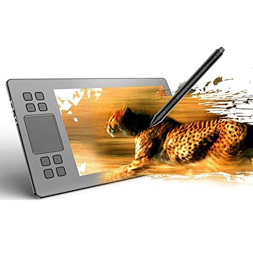 Tableta De Dibujo, Inalámbrico Tableta Gráfica, 10X6 Pulgadas 5080 LPI Táctil Inteligente Electrónica Tableta Gráfica, con C-Tipo De Interfaz, Windows 10/7/8 / XP/Vista O Superior