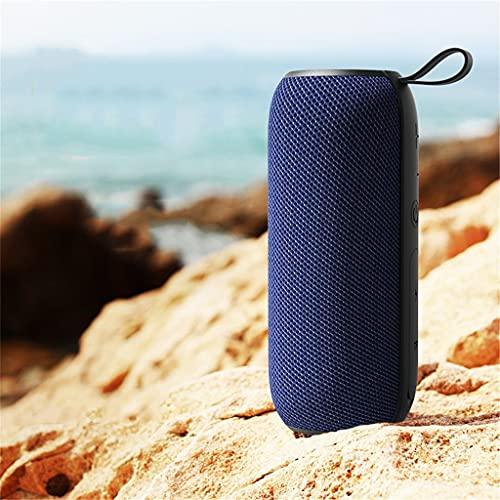 CHYSP Bluetooth-Lautsprecher Dual-Lautsprecher High-Volume-Subwoofer Outdoor-Handy kleines Audio drahtlos tragbar (Color : Blue)