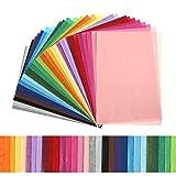 Kesote 300 Fogli di Carta Velina Colorata di 30 Colori Carta di Velina da Imballaggio Carta Riutilizzabile per Confezioni Regalo Riempitivi per Scatole, 20 X 29CM