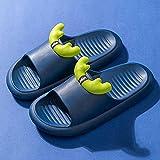 Zuecos Cross Mujer,Zapatillas para Padres Y NiñOs Infantiles, PVC Anti-PatíN Inferiores Inferiores NiñO Interior NiñA Dibujos Animados Zip, BañO Piscina Playa Zapatillas De Playa-I 34-35 (210mm / 8.2