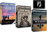 Ken Burns: The War Collection - The Civil War, The War, The Vietnam War, Plus Bonus POW*MIA Decal