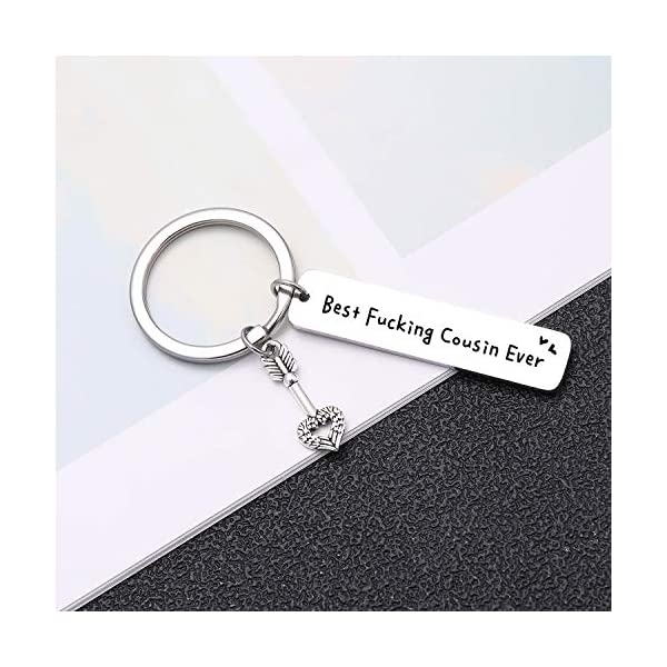 Inspiring Appreciation Gift Best Fucking Cousin Ever Inspirational Keychain for Cousins,Sister Friends