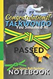 Taekwondo Notebook: Congratulations on passing your Green Stripe Belt Grading College Ruled Composition Notebook gift | 8.5x11 Lined Journal for ... Kwon Do Green Belt | 11 book collection TKD