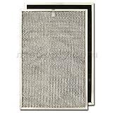 "Aluminum/Carbon Range Hood Filter -11 3/8"" x 17"" x 3/8"""