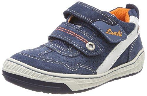 Lurchi Jungen Bruce Sneaker, Blau (Jeans 34), 25 EU