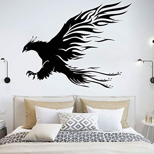 Flying Bald Eagle Raptor Paws Phoenix Wings Sacred Bird Mythology Animales Etiqueta de la pared Vinilo Calcomanía para automóvil Dormitorio de niño Sala de estar Estudio Oficina Decoración para e