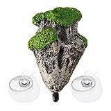unkonw Piedra suspendida flotante musgo resina piedras mágicas aleluya jardín submarino mundo de avatar en acuario rocas avatar