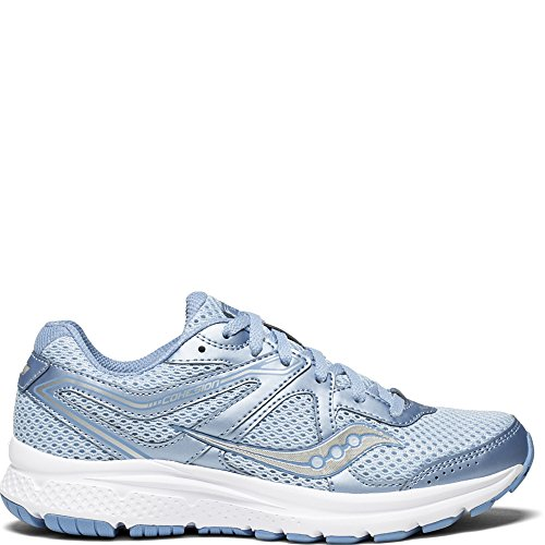 Saucony Women's Cohesion 11 Running Shoe, Fog/Blue, 7.5...