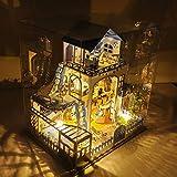 FSEARRT ドールハウス Meet Love Sea 別荘 手作りキットセット オルゴール 防塵ケース付属 DIY リビング