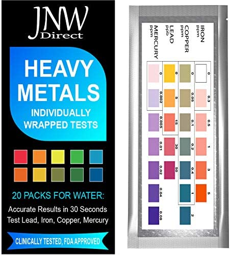 JNW Direct Heavy Metals Test Drinking Water Testing Kit for Lead Iron Copper and Mercury Simple product image