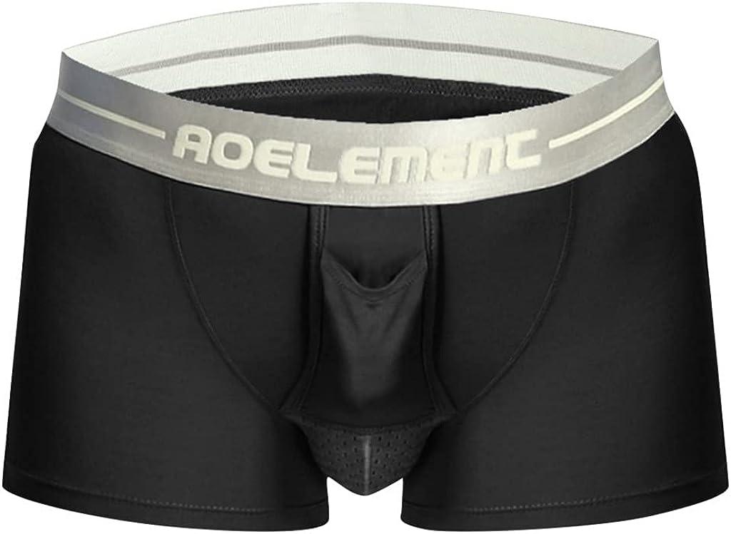 Teoecb Men's Underwear Briefs Boxer Shorts,Men's Breathe Underwear Bullet Separation Scrotum Physiological Underpants