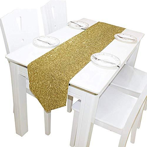 Tafelloper wooncultuur, vintage goud glitter sterren tafelkleed runner koffiemat