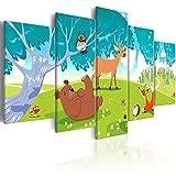 murando Impression sur Toile intissee 200x100 cm Tableau 5 Parties Tableaux Decoration Murale Photo Image Artistique Photographie Graphique pour Enfants e-B-0011-b-m