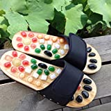 Foot Massage Slippers Pebble Stone Acupressure Sandal Acupuncture Blood Flow Feet Relax Shoe