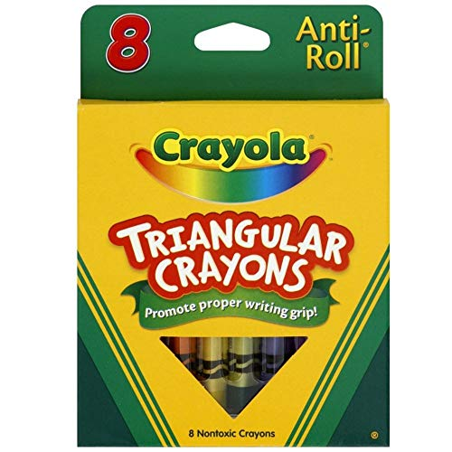 Crayola Anti-Roll Triangular Crayons, Assorted Colors 8 ea ( Pack of 24)