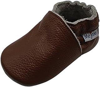 Mejale Baby Boy Girl Shoes Soft Soled Leather Moccasins Anti-Skid Infant Toddler Prewalker