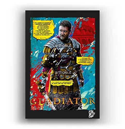 Massimo Decimo Meridio dal film Il Gladiatore - Quadro Pop-Art Originale con Cornice, Dipinto, Stampa su Tela, Poster, Locandina film