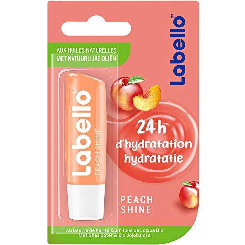 Labello Peach Shine - Bálsamo labial (4,8 g, 1 unidad)