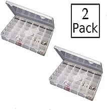 FreshDcart Multipurpose Plastic Jewellery Organizer and Kit Earring Organiser Storage Box (Transparent, Set of 2)