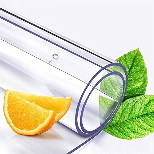 Wddwymll 3mm Manteles Rectangulares Transparentes,Película de Mesa Limpiable,PVC Mantel Transparente Impermeable,para Picnics, Escritorios, Fiestas