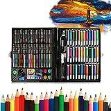 150 Stück Buntstifte Set für Erwachsene Künstler, Wasserfarbe & Wachsmalkreide, Wachsmalstifte...